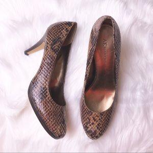 Anne Klein Vegan snakeskin print heels NWT